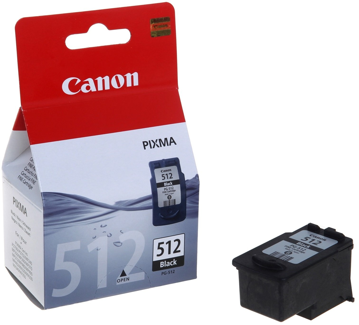 Genuine High Capacity Black Canon PG-512 Ink Cartridge - (2969B001AA)