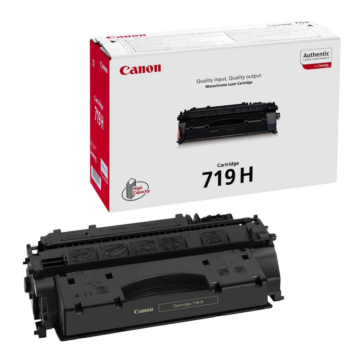 Genuine High Capacity Black Canon 719H Toner Cartridge - (3480B002AA Laser Printer Cartridge)