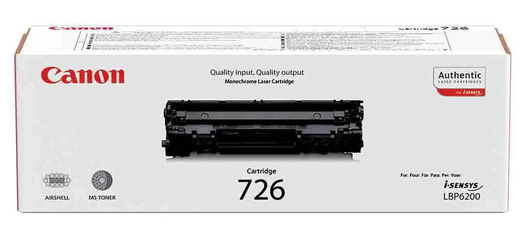 Genuine Black Canon 726 Toner Cartridge - (3483B002AA)