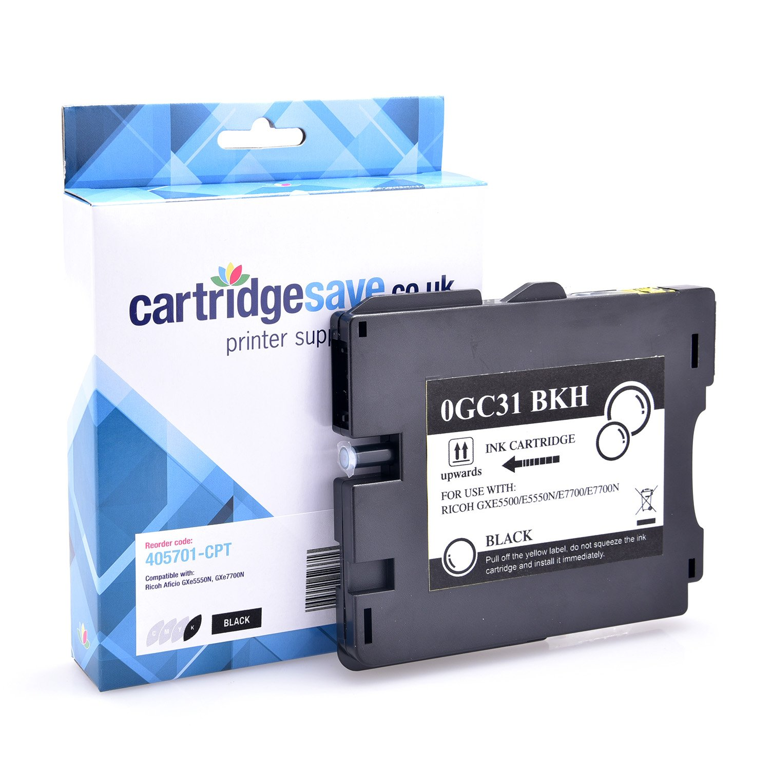 Compatible Ricoh High Capacity Black GC31KH Gel Ink Cartridge - (Ricoh Black 405701 Gel Cartridge)
