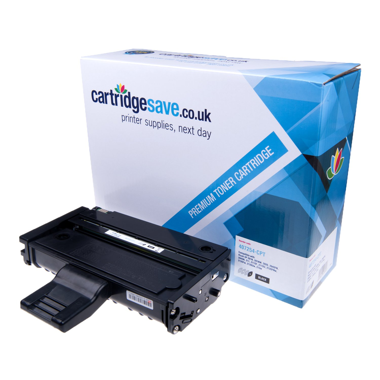 Compatible High Capacity Black Ricoh 407254 Laser Toner (Replaces Ricoh 407254 Laser Printer Cartridge)