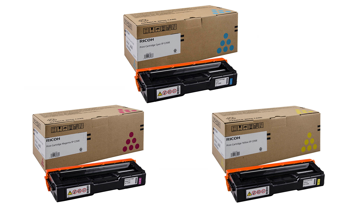 Genuine 3 Colour Ricoh 40754 Toner Cartridge Multipack - (407544/5/6)