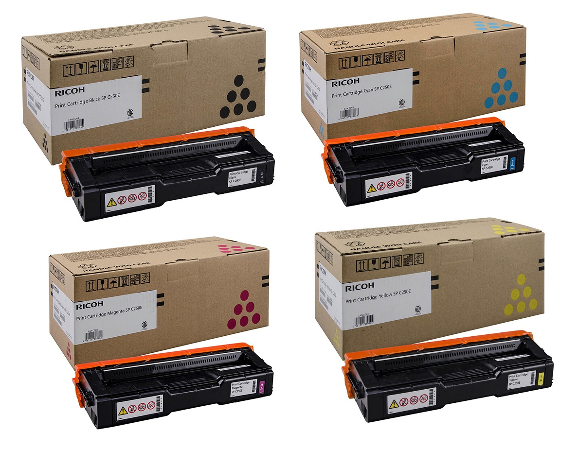 Genuine 4 Colour Ricoh 40754 Toner Cartridge Multipack - (407543/4/5/6)
