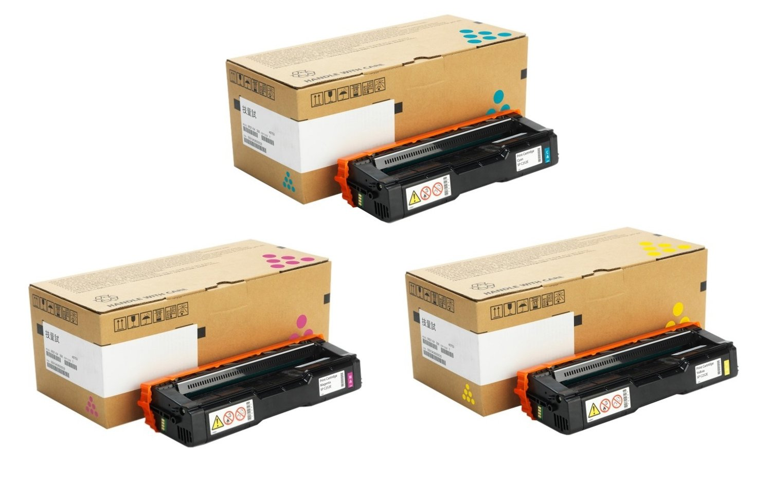 Genuine 3 Colour Ricoh 40771 Toner Cartridge Multipack - (407717/8/9)