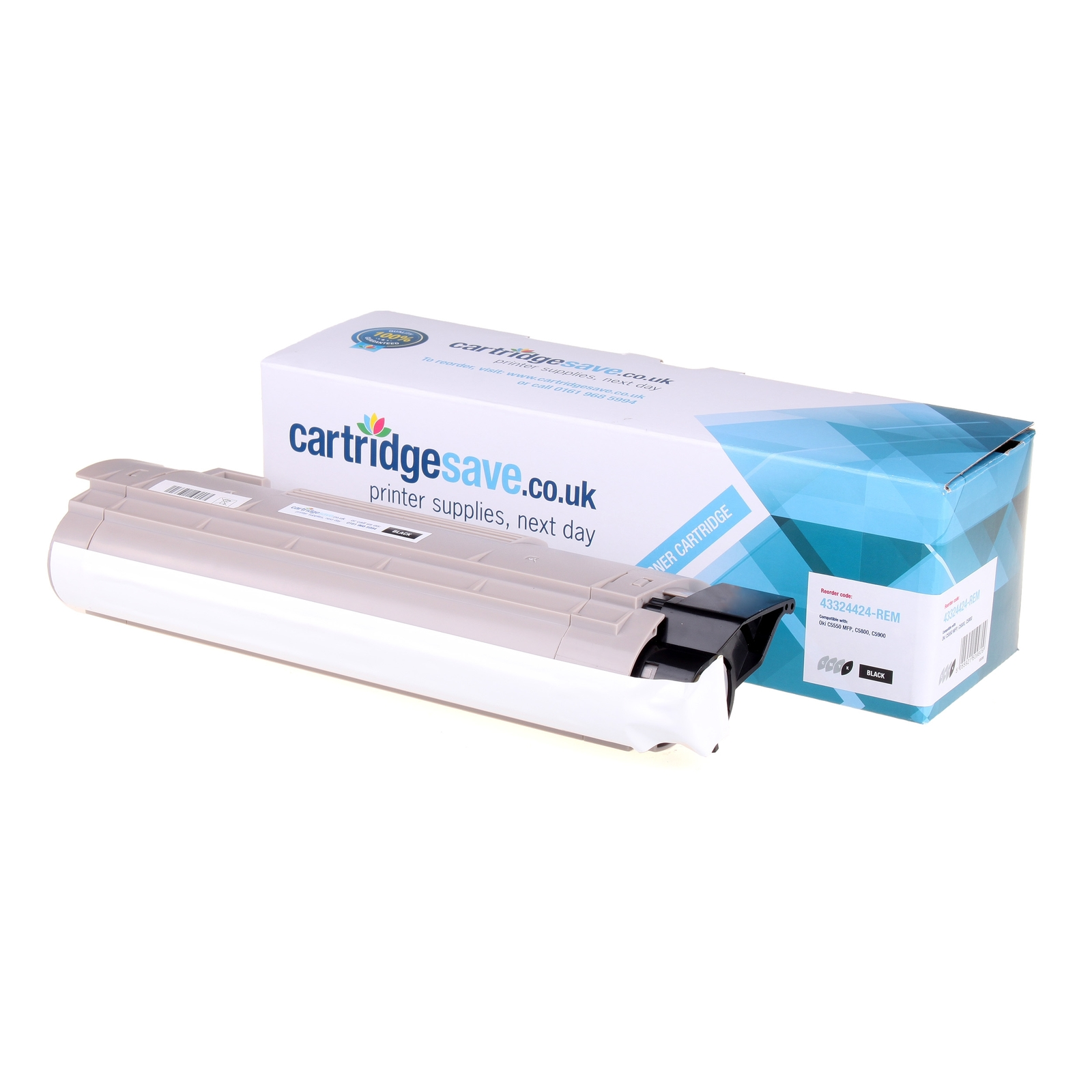 Compatible Black Oki 43324424 Toner Cartridge - (43324424)