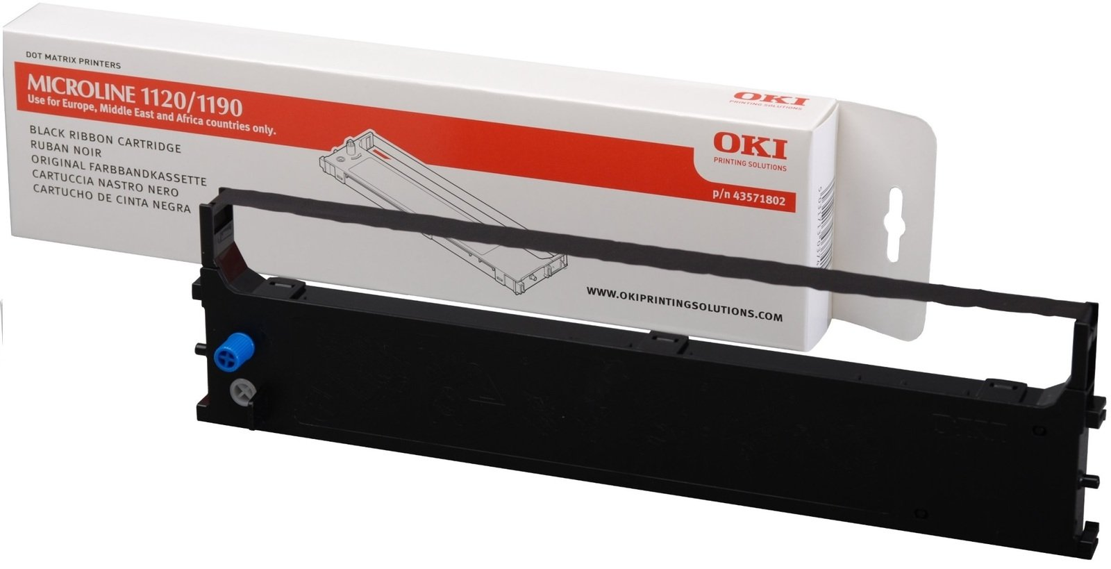 Genuine Black OKI 43571802 Ribbon Cartridge - (43571802)