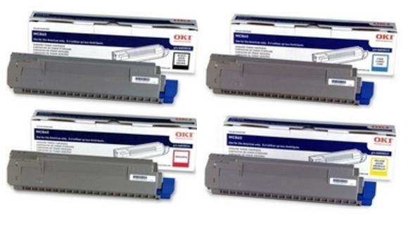 Genuine 4 Colour Oki 440592 Toner Cartridge Multipack (44059212/11/10/09)