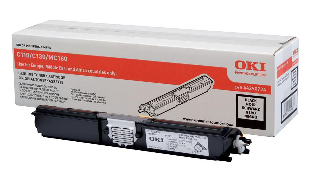 Genuine High Capacity Black OKI 44250724 Toner Cartridge - (44250724)