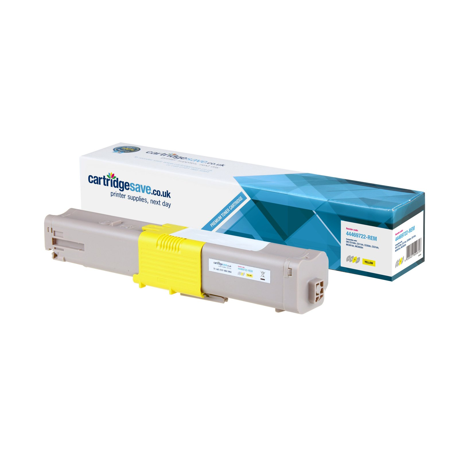 Compatible High Capacity Yellow Oki 44469722 Toner Cartridge - (44469722)