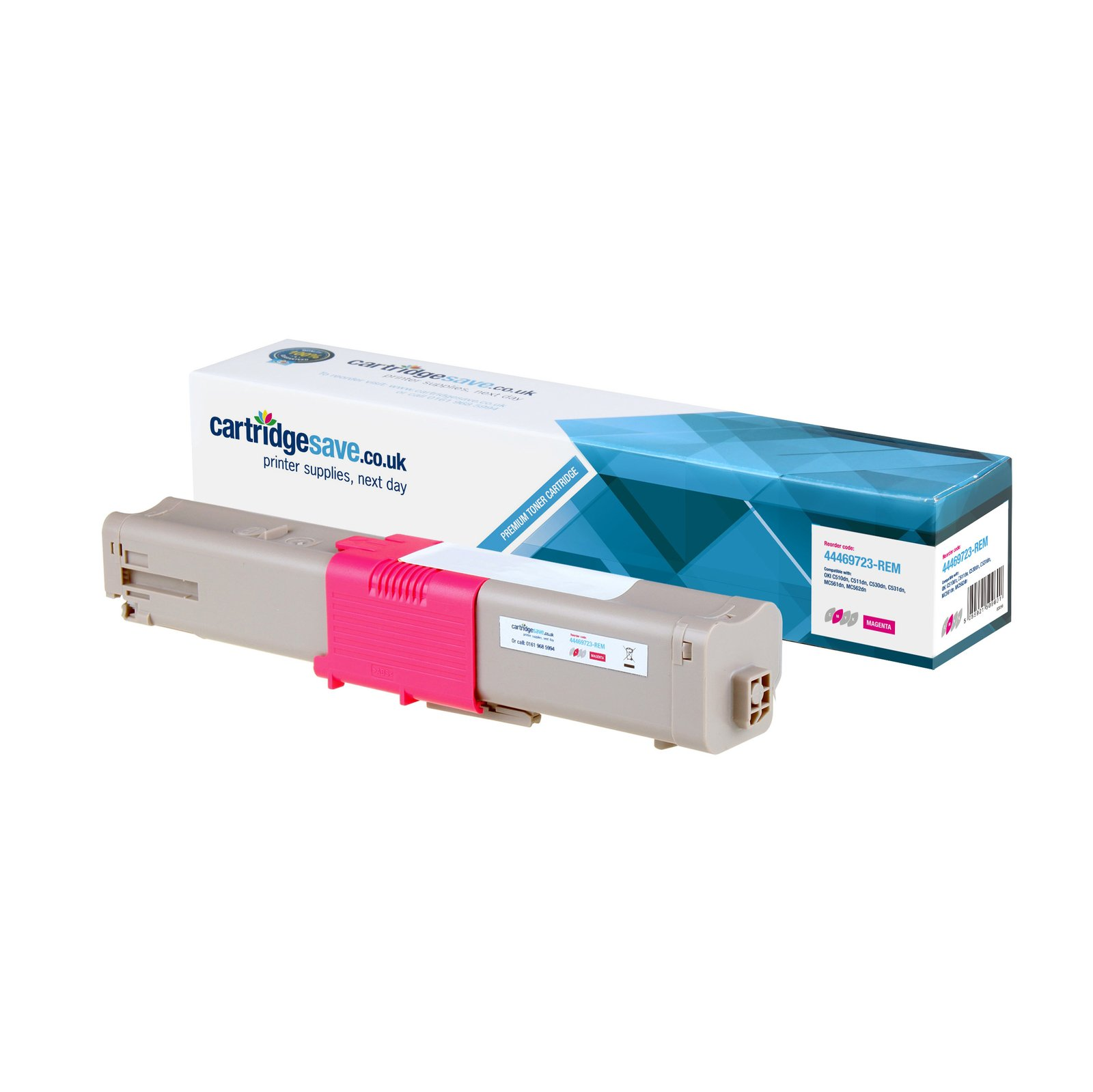 Compatible High Capacity Magenta Oki 44469723 Toner Cartridge - (44469723)