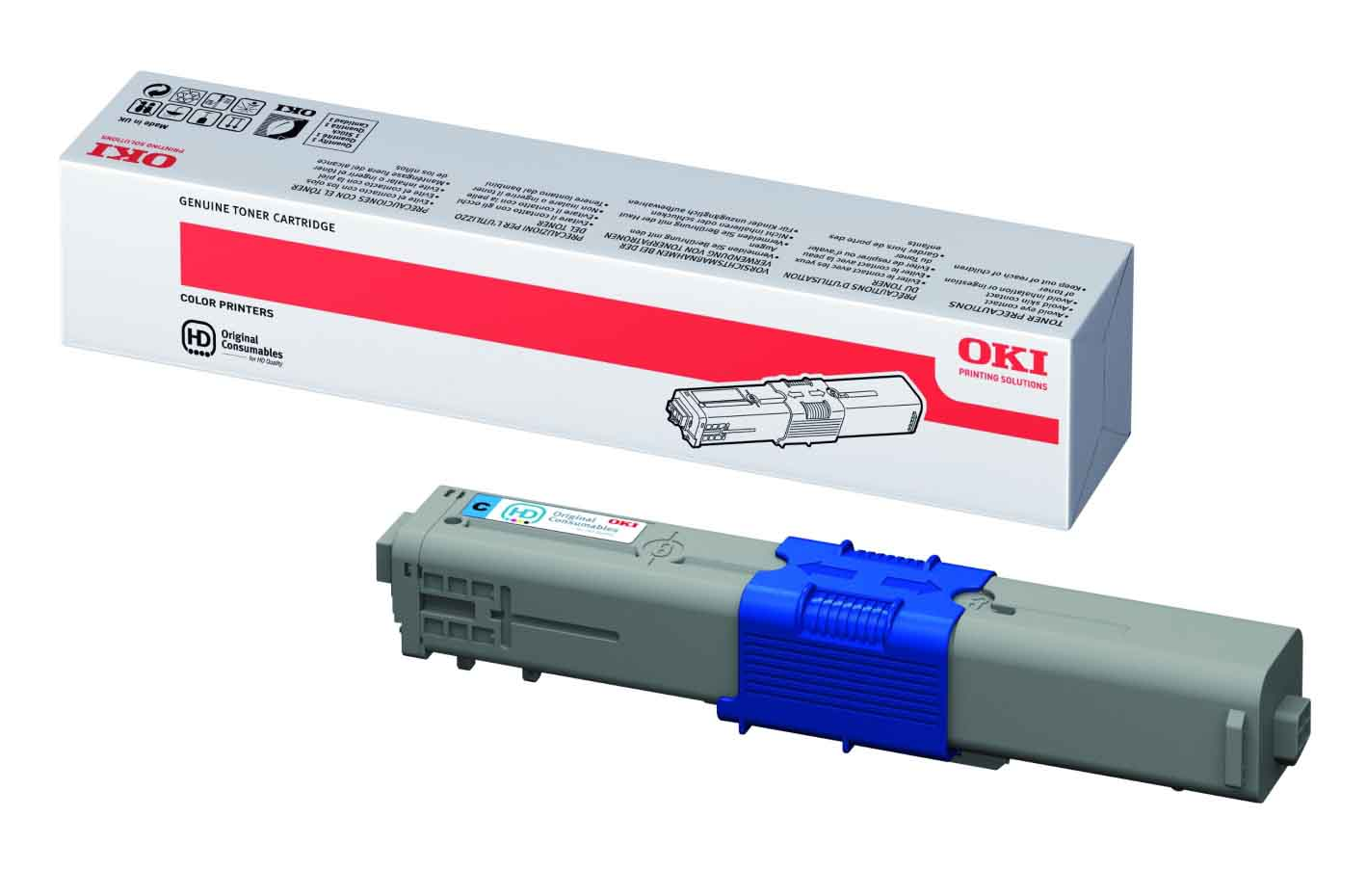 Genuine High Capacity Cyan Oki 44469724 Toner Cartridge - (44469724)
