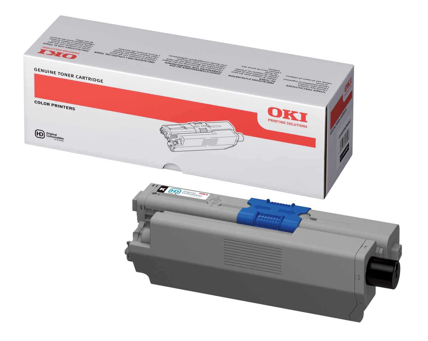 Genuine High Capacity Black Oki 44469804 Toner Cartridge - (44469804)