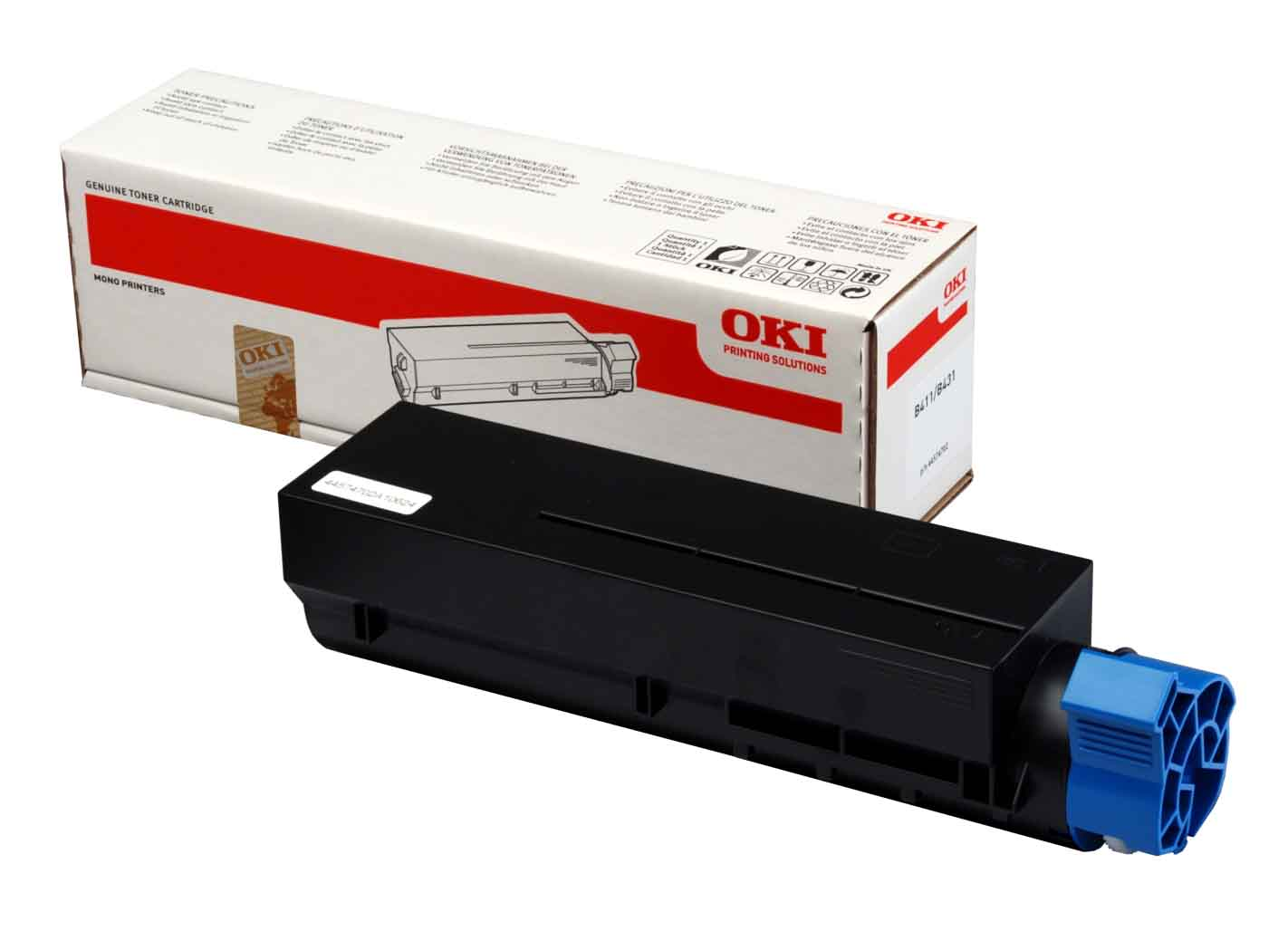 Genuine Black Oki 44574702 Toner Cartridge - (44574702)