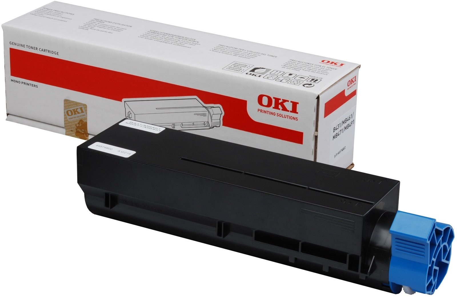 Genuine Black OKI 44574802 Toner Cartridge - (44574802 Laser Printer Cartridge)