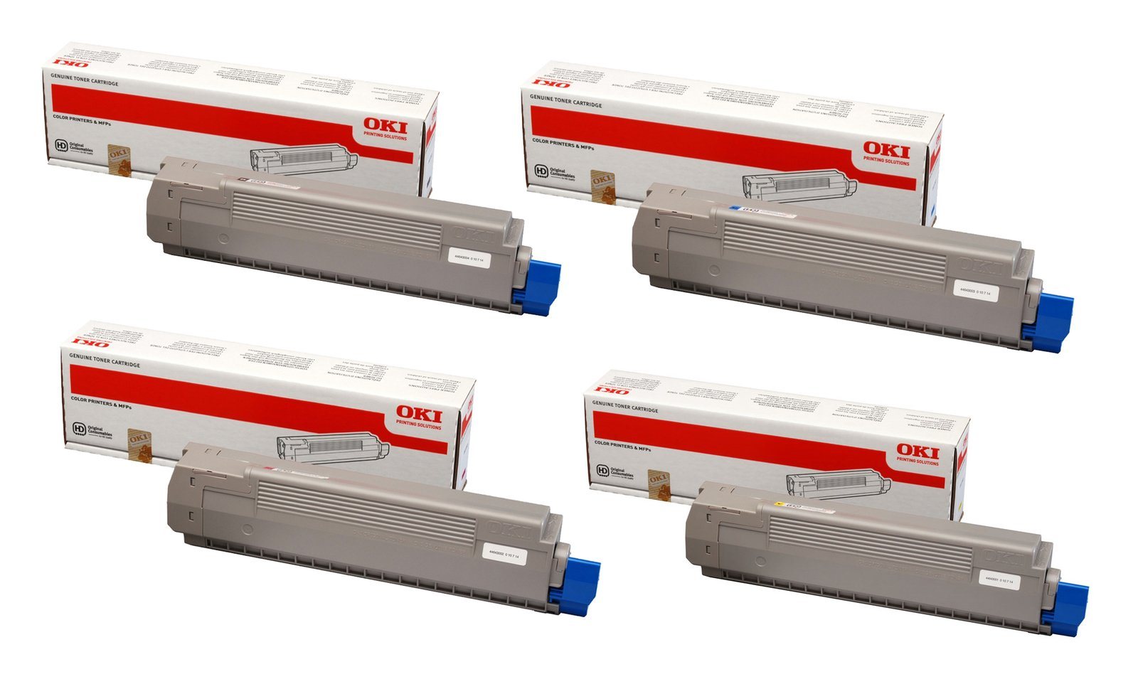 Genuine 4 Colour Oki 4464300 Toner Cartridge Multipack - (44643004/3/2/1)