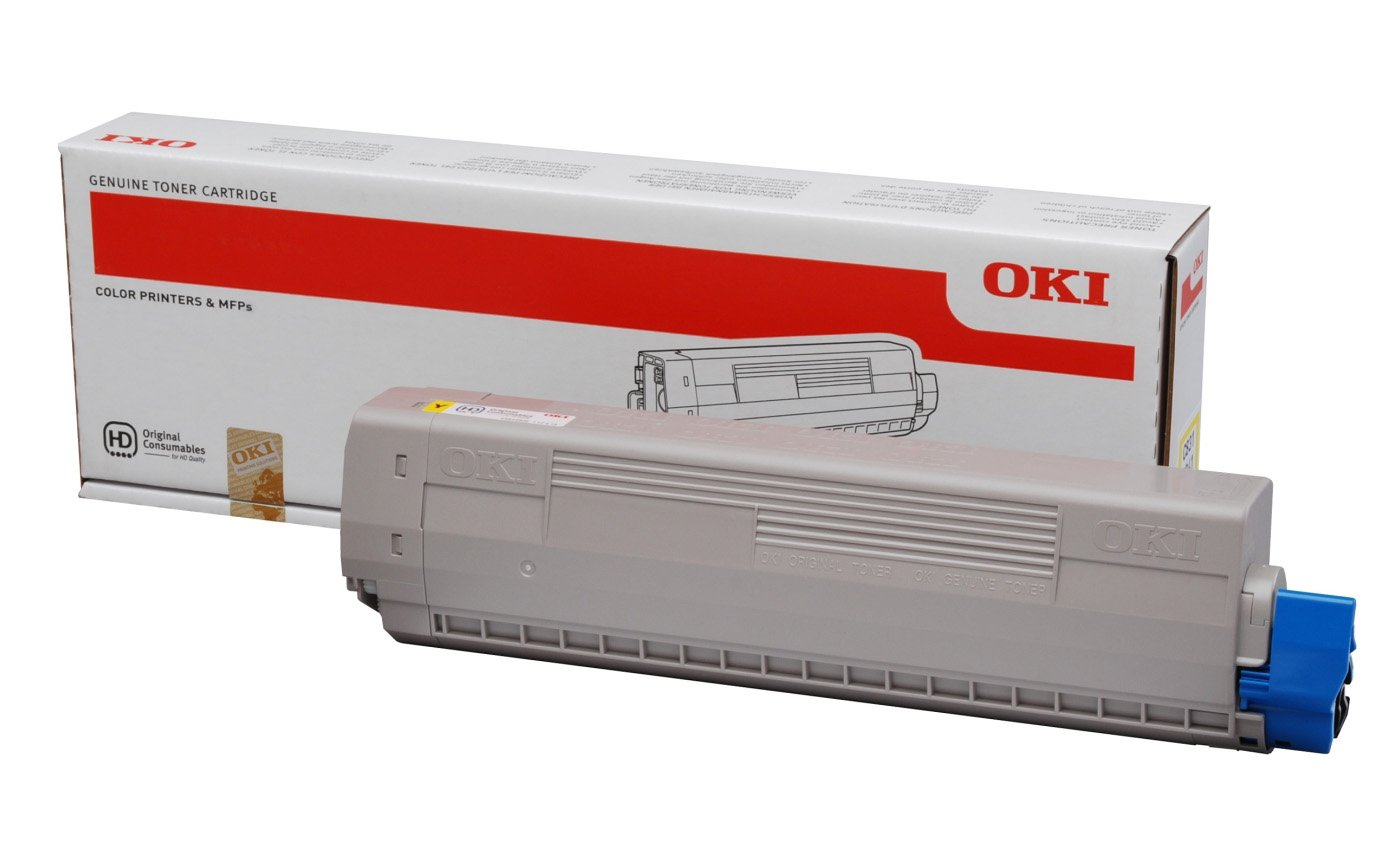 Genuine Yellow OKI 44844505 Toner Cartridge - (44844505 Laser Printer Cartridge)