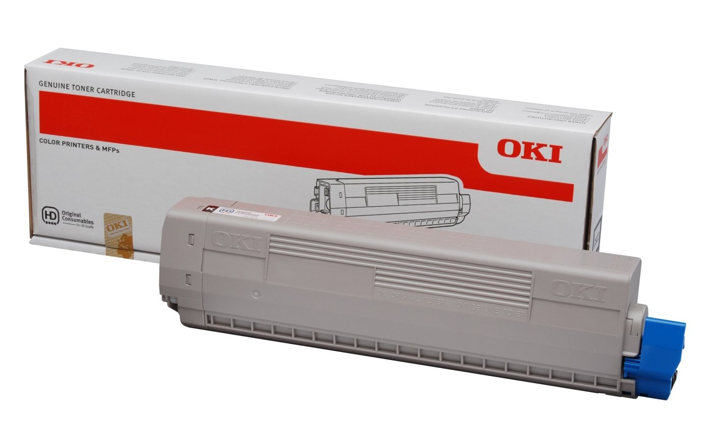 Genuine Black OKI 44844616 Toner Cartridge - (44844616 Laser Printer Cartridge)