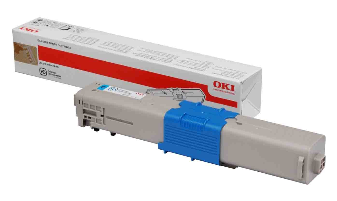 Genuine Cyan OKI 44973535 Toner Cartridge - (44973535 Laser Printer Cartridge)