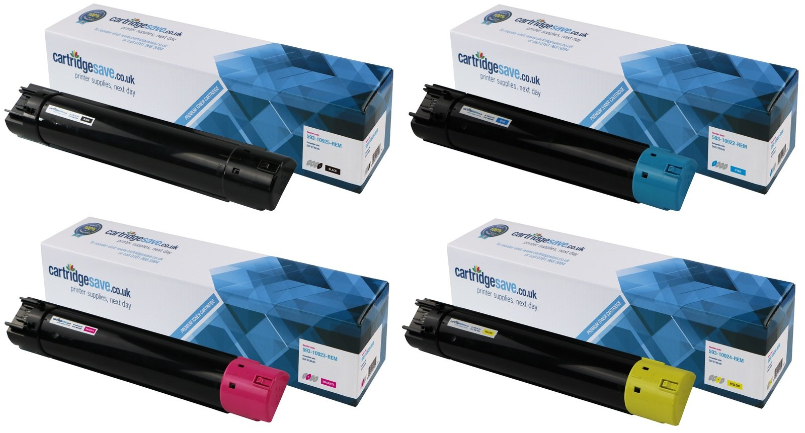 Compatible High Capacity 4 Colour Dell 593-1092 Toner Cartridge Multipack - (593-10925/2/3/4)