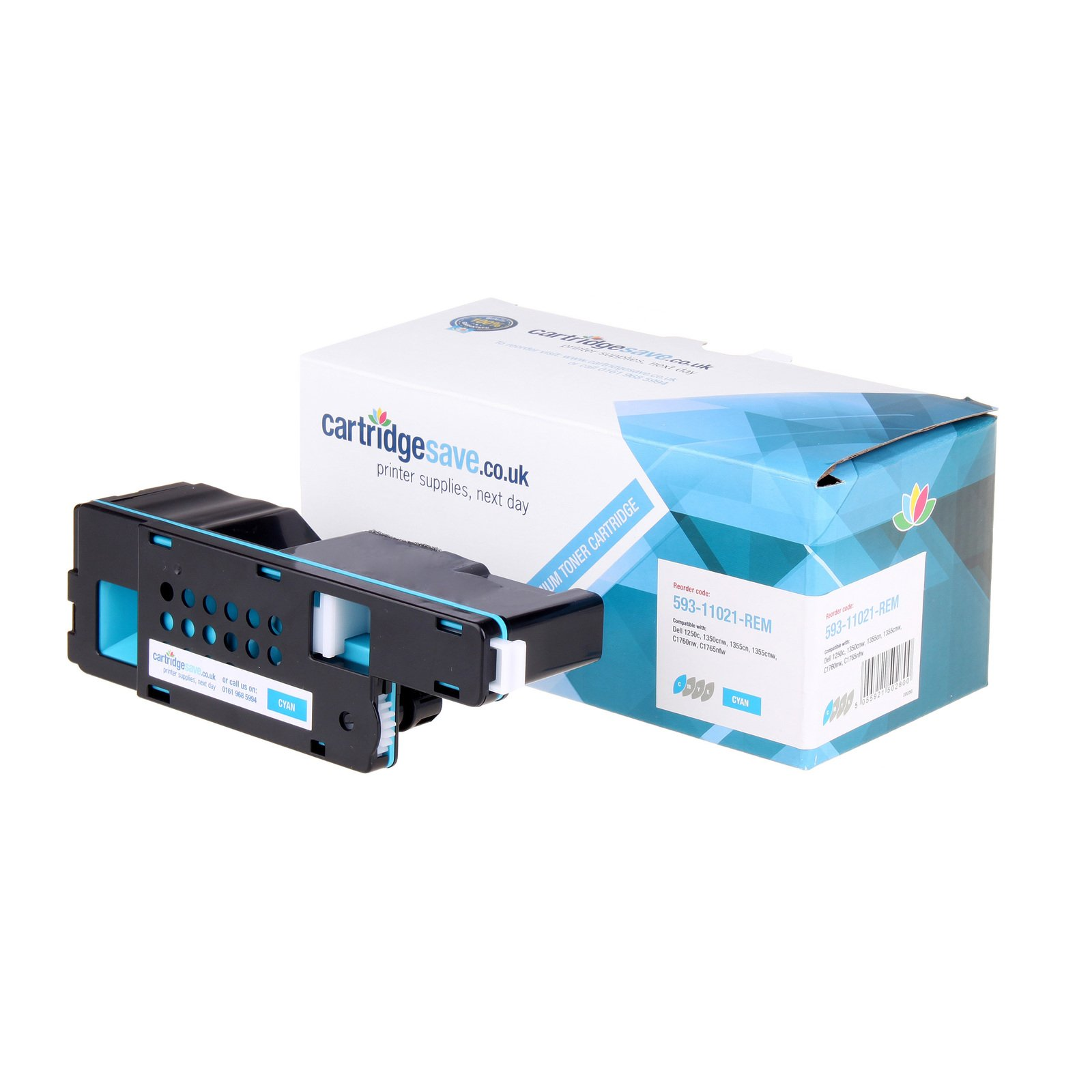Compatible High Capacity Cyan Dell 593-11141 Toner (593-11021 Laser Printer Cartridge)