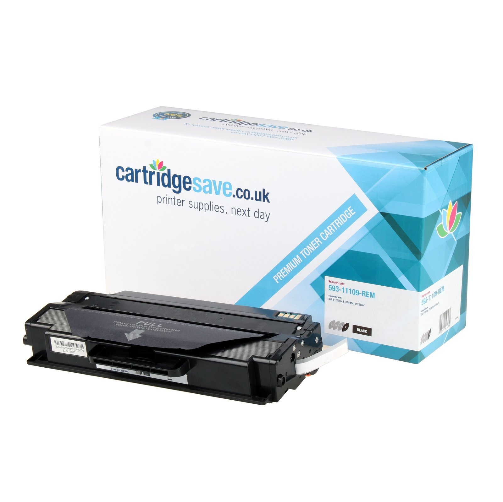 Compatible High Capacity Black Dell DRYXV Toner Cartridge (593-11109 Laser Printer Cartridge)