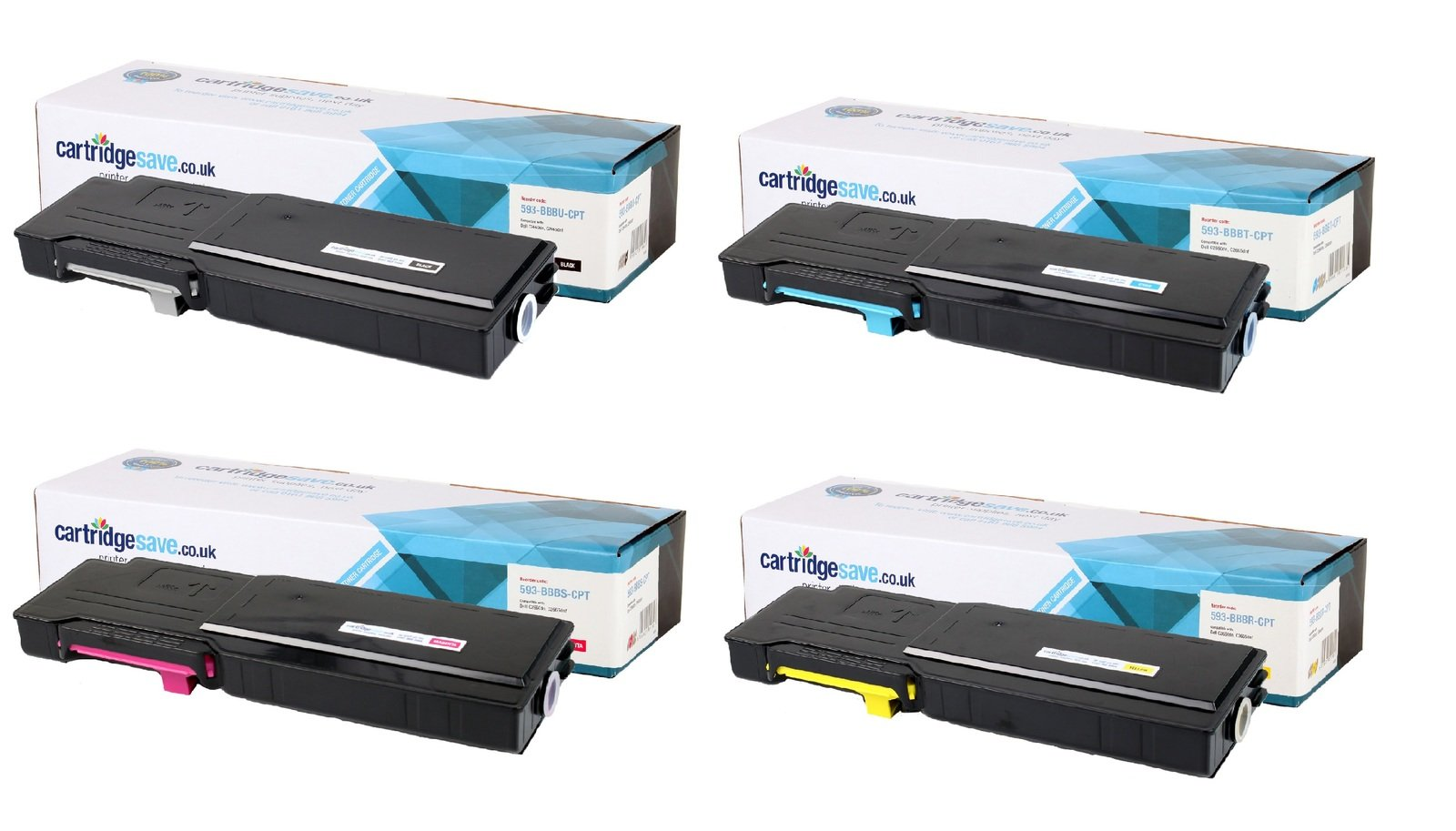 Compatible High Capacity 4 Colour Dell 593-BBB Toner Cartridge Multipack (593-BBBU/T/S/R)