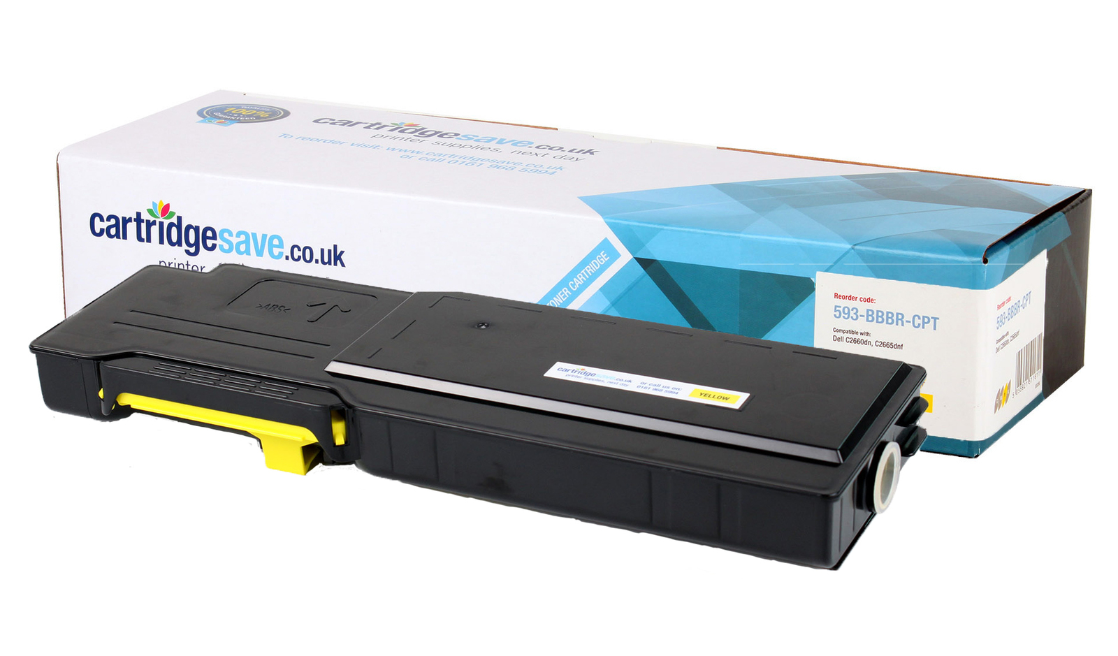 Compatible High Capacity Yellow Dell YR3W3 Toner Cartridge (593-BBBR Laser Printer Cartridge)