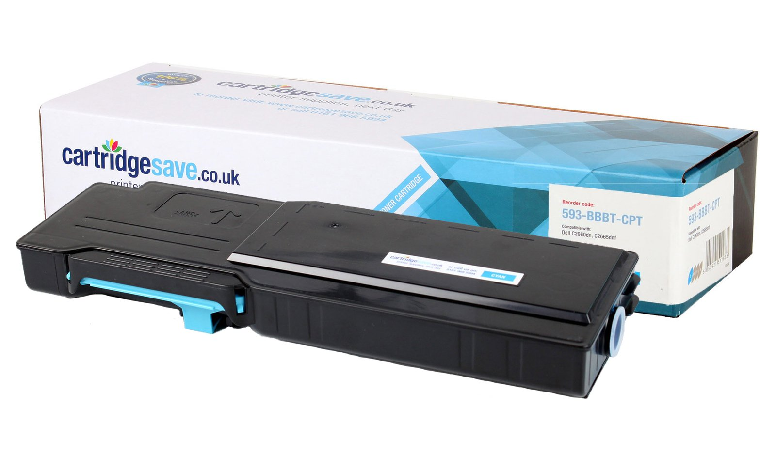 Compatible High Capacity Cyan Dell 488NH Toner Cartridge (593-BBBT Laser Printer Cartridge)