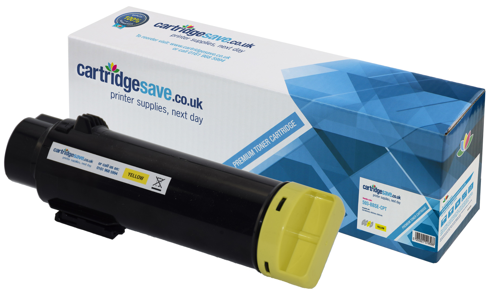 Compatible High Capacity Yellow Dell 593-BBSE Toner Cartridge (593BBSE Laser Printer Cartridge)