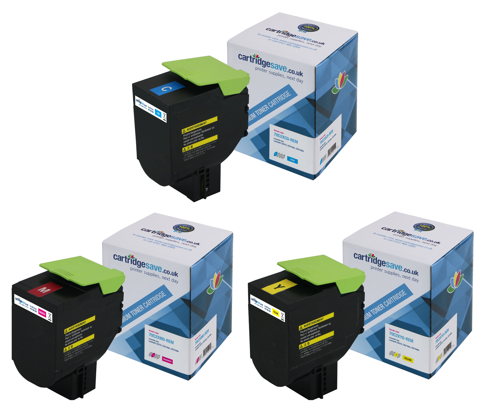 Compatible Extra High Capacity 3 Colour Lexmark 702X Toner Multipack - (702XC/M/Y)