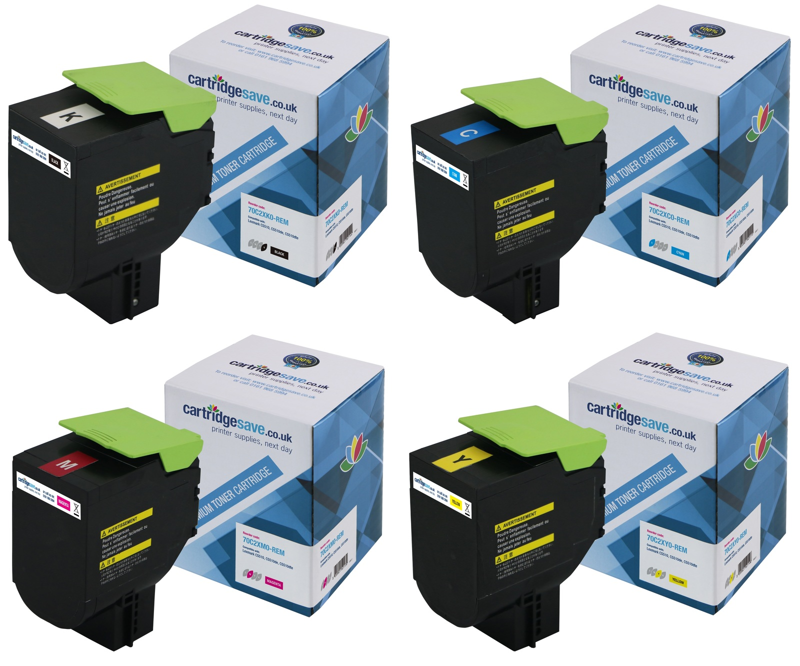 Compatible Extra High Capacity 4 Colour Lexmark 702X Toner Multipack - (702XK/702XC/702XM/702XY)