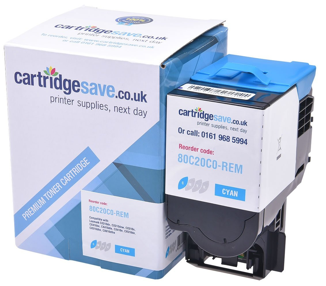 Compatible Cyan Lexmark 802C Toner Cartridge - (80C20C0)