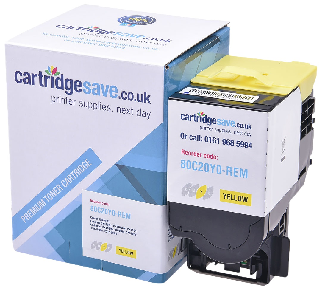 Compatible Yellow Lexmark 802Y Toner Cartridge - (80C20Y0)