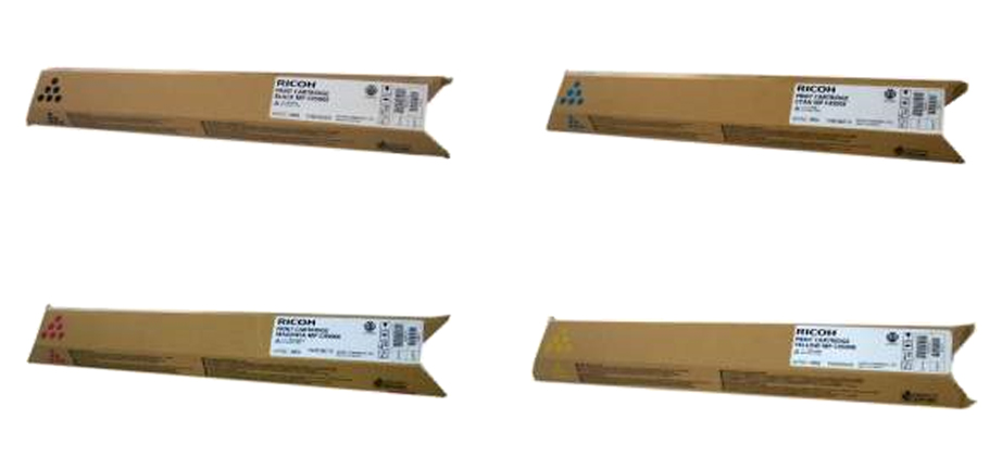 Genuine 4 Colour Ricoh 8886 Toner Cartridge Multipack - (888608/888611/888610/888609)