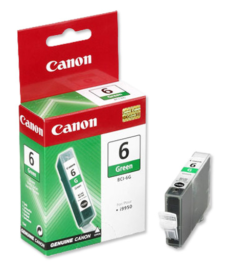 Genuine Green Canon BCI-6G Ink Cartridge - (9473A002)
