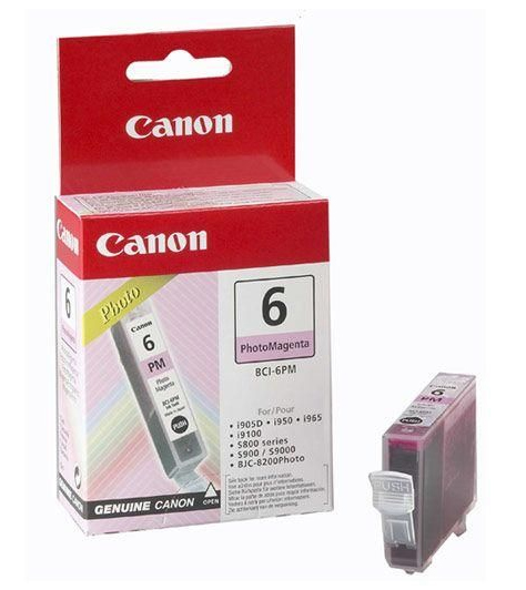 Genuine Photo Magenta Canon BCI-6PM Ink Cartridge - (4710A002)
