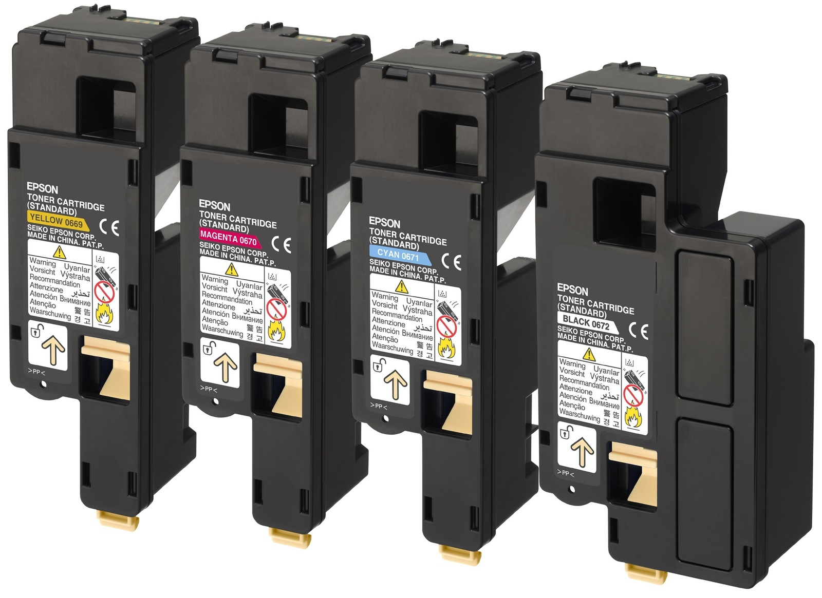 Genuine High Capacity 4 Colour Epson S05061 Toner Cartridge Multipack - (C13S050614/3/2/1)