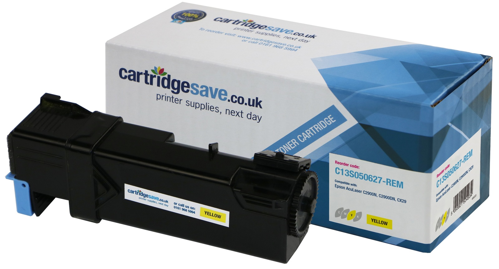 Compatible Yellow Epson S050627 Toner Cartridge - (Replaces Epson C13S050627)