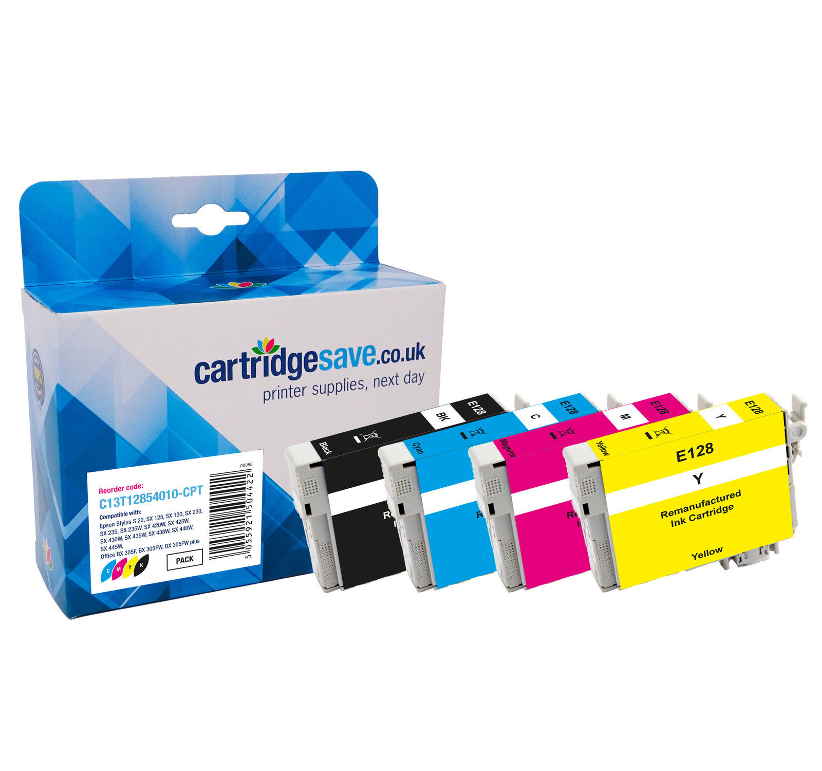 Compatible 4 Colour Epson T1285 Ink Cartridge Multipack - (Replaces Epson T1285 Fox Printer Ink Cartridges)