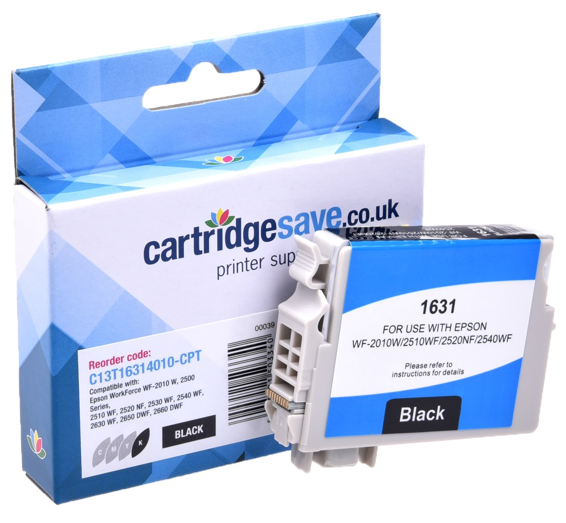Compatible High Capacity Black Epson 16XL Ink Cartridge - (Replaces T1631 Pen and Crossword Inkjet Printer Cartridge)