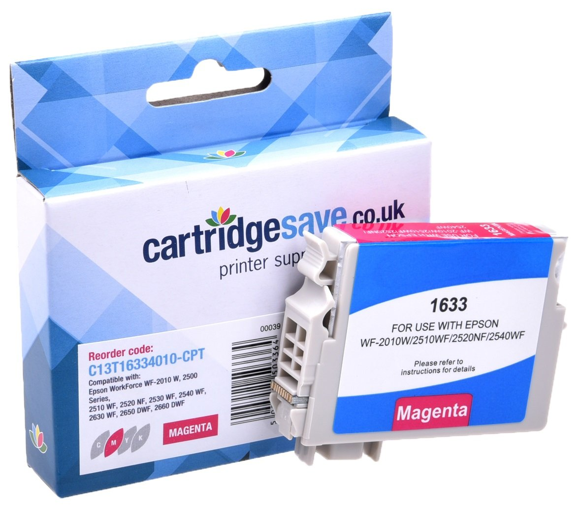 Compatible High Capacity Magenta Epson 16XL Ink Cartridge - (Replaces T1633 Pen and Crossword Inkjet Printer Cartridge)