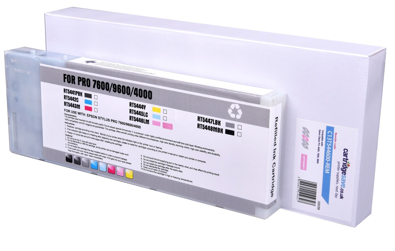 Compatible High Capacity Light Magenta Epson T5446 Ink Cartridge - (C13T544600)