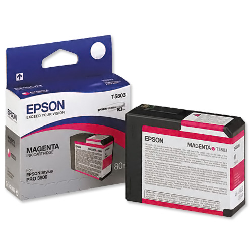 Genuine Magenta Epson T5803 Ink Cartridge - (C13T580300)