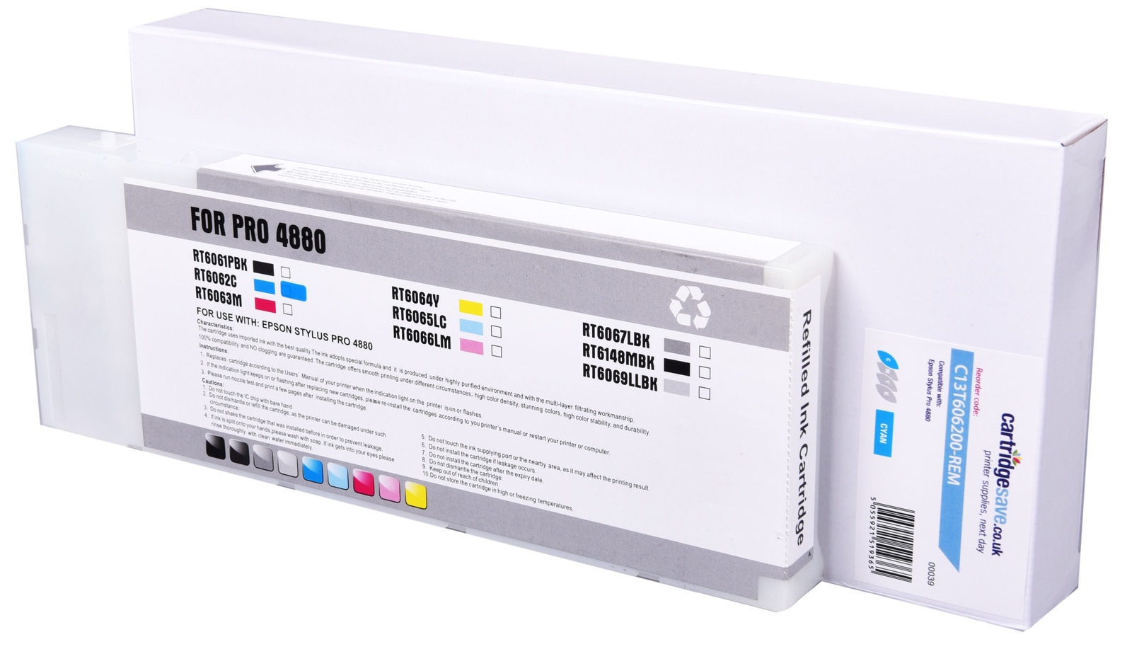 Compatible High Capacity Cyan Epson T6062 Ink Cartridge - (C13T606200)