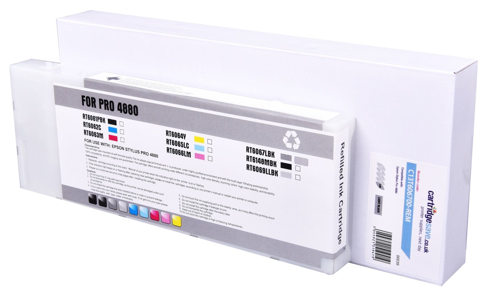 Compatible High Capacity Light Black Epson T6067 Ink Cartridge - (C13T606700)