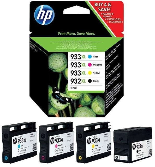 Genuine High Capacity 4 Colour HP 932XL / HP 933XL Ink Cartridge Multipack (C2P42AE)