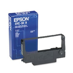 Genuine Black Epson ERC-38 Fabric Ribbon - (C43S015374)