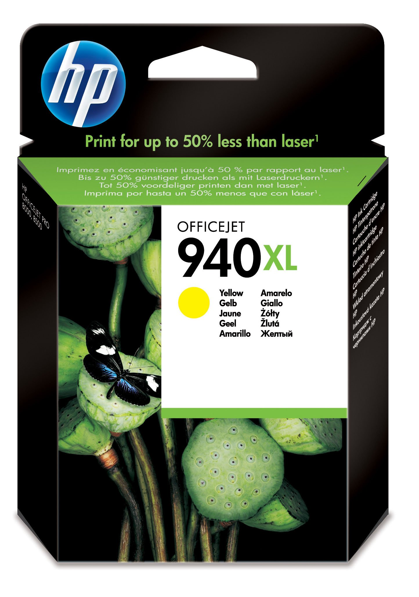 Genuine High Capacity Yellow HP 940XL Ink Cartridge - (C4909AE)