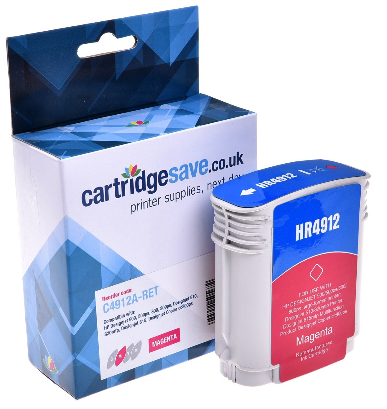 Compatible High Capacity Magenta HP 82 Ink Cartridge - (C4912A)