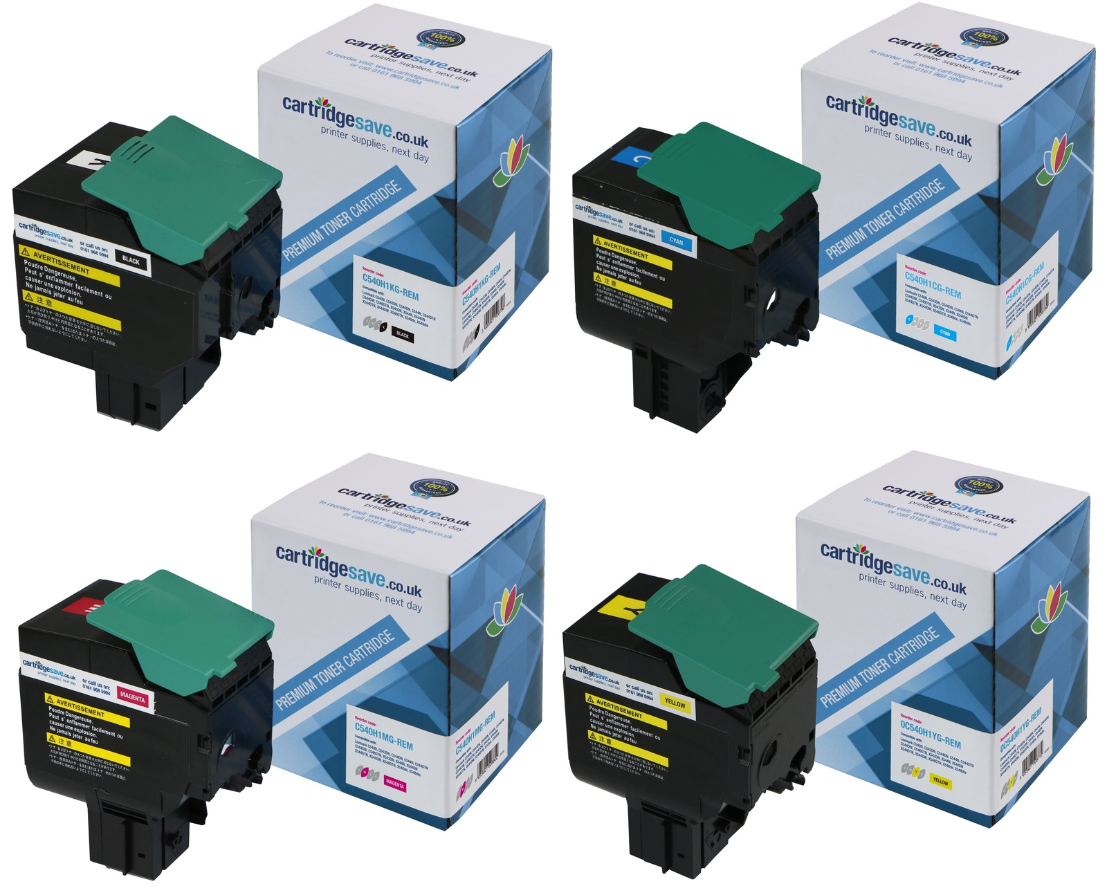 Compatible High Capacity 4 Colour Lexmark C540H1 Multipack (Replaces Lexmark 0C540H1KG/CG/MG/YG)